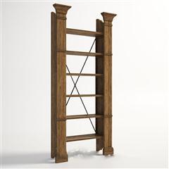 现代公艺复古原木书架1