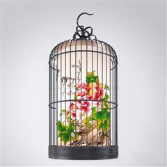中式铁艺鸟笼仿古吊灯