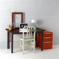 现代简约书桌椅组合