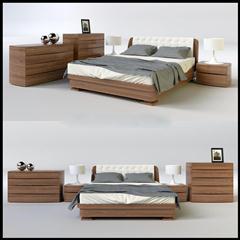 现代简约床头柜床具组合