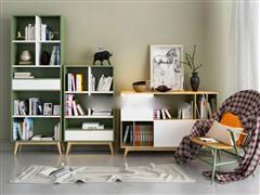 现代简约置物柜单椅组合