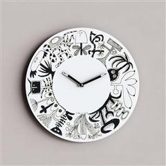 黑白涂鸦时钟