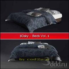 3Dsky : Beds Vol.1 103个床3D模型合辑