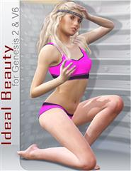 Renderosity Ideal Beauty for Genesis 2 Female and V6  理想美