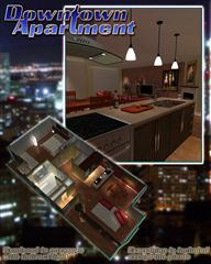 Renderosity Downtown Apartment 市中心的公寓