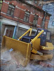 Daz3D Bulldozer 推土机