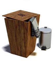 方形木质换洗衣物桶垃圾桶