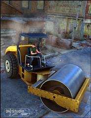 Daz3D Road Roller 压路机