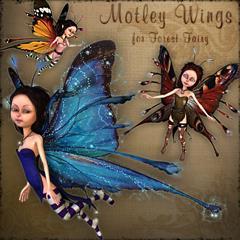 Renderosity Motley Wings 五颜六色的翅膀