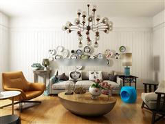 北欧创意软包沙发组合