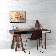 北欧简约书桌椅组合