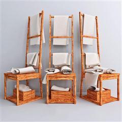 木质沐浴用品毛巾架1