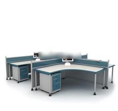现代金属办公桌 3D模型下载