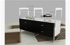 现代木质酒柜 3D模型下载