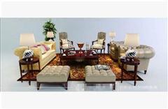 中式沙发组合 3D模型下载