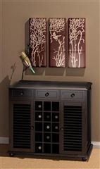 田园木质酒柜 3D模型下载