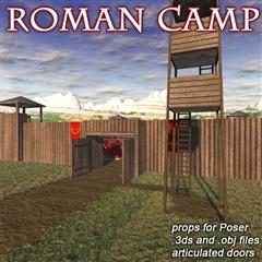 Renderosity Roman Camp 罗马营