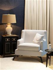 现代白色布艺沙发茶几