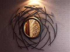 中式木质镜子 3D模型下载