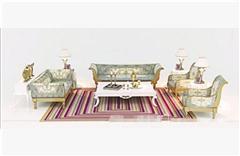 古典沙发组合 3D模型下载