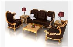 古典欧式沙发组合 3D模型下载