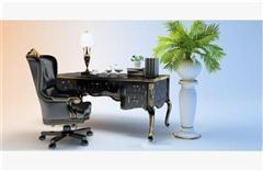 欧式办公桌 3D模型下载