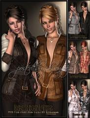 Renderosity Leather Plus- for V4H coat for V4/A4衣服