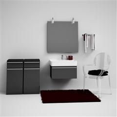CGAxis Bathroom Set 01 卫生间模型(浴柜、台盆等)
