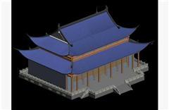 中式古典建筑大殿