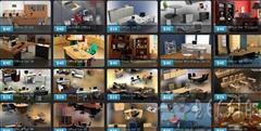humster3d – 27 Office Sets and Office Furniture 3D Models 办公家具的3 d模型
