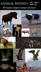 3D Animal Models for 3ds Max 动物模型
