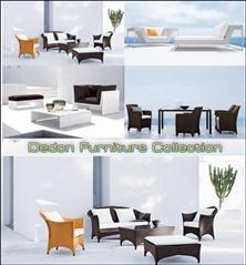 3D Models of Dedon Furniture 家具3D模型
