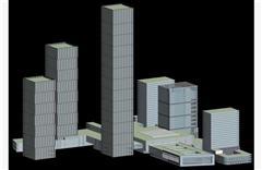 城市摩天大楼 简模