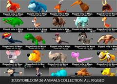 3D3store.com 26 Animals Collection. All Rigged动画动物合集