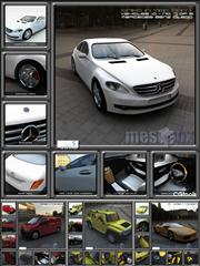3D Cars From Meshbox (3ds Format Included)汽车模型