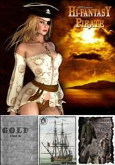 Large Daz and Poser Model Collection Pirate and Fantasy Themed 海盗