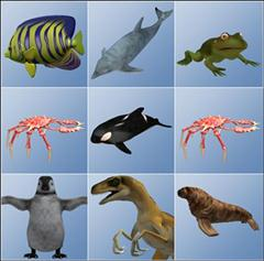Poser 2012 Pro Content – Poser Animals 各种动物合集 DAZ/poser