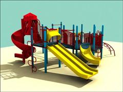 3D Models for Children Playground 儿童游乐场3D模型