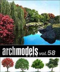 Evermotion – Archmodels vol. 58 (FBX) 植物,树集合