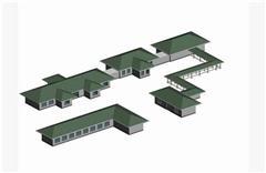 工厂厂房模型