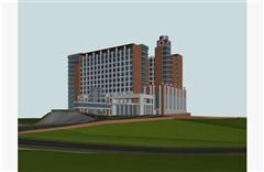 医院简模 建筑外表