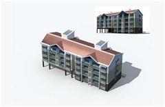 多层房屋建筑外表
