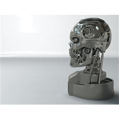 终结者机器人头部 T-800 Bust Model