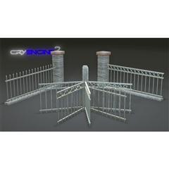 围栏 Metal Fence Pack  Modular  Game Ready