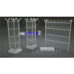 金属网围墙 Fence Pack  Modular  Game Ready