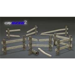 木围栏 Wooden Fence Pack  Modular  Game Ready