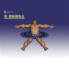 街霸人物模型系列 E.HONDA