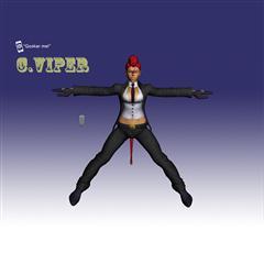 街霸人物模型系列 C.VIPER