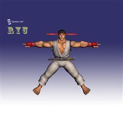 街霸人物模型系列 RYU