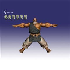 街霸人物模型系列 GOUKEN